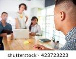 multi ethnic group of succesful ... | Shutterstock . vector #423723223