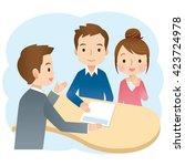 insurance agent presenting a... | Shutterstock . vector #423724978