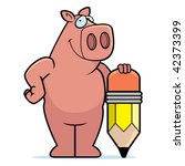 pig pencil | Shutterstock .eps vector #42373399