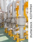 valve manual operate in oil and ... | Shutterstock . vector #423744964