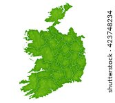 ireland map country icon | Shutterstock . vector #423748234