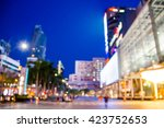 abstract blurred a big city at...   Shutterstock . vector #423752653