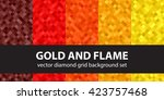 "diamond pattern set ""gold and... 