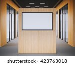 office lobby with a big modern... | Shutterstock . vector #423763018