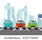 parking lot design  | Shutterstock .eps vector #423773440