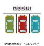 parking lot design  | Shutterstock .eps vector #423773974