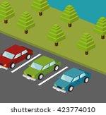 parking lot design    Shutterstock .eps vector #423774010
