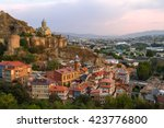 Skyline Of Tbilisi And Narikal...