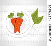 healthy food design | Shutterstock .eps vector #423776908