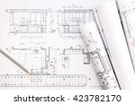 architectural blueprints and... | Shutterstock . vector #423782170