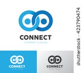 people connect logo. connection ... | Shutterstock .eps vector #423790474