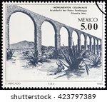 mexico   circa 1981  a stamp... | Shutterstock . vector #423797389