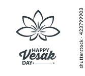 happy vesak day  | Shutterstock .eps vector #423799903