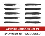 grunge vector brushes... | Shutterstock .eps vector #423800560