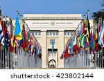 geneva  switzerland   12 march... | Shutterstock . vector #423802144