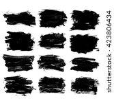 set of grunge brush strokes  ... | Shutterstock . vector #423806434