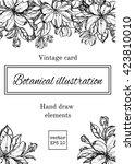 romantic background. vector... | Shutterstock .eps vector #423810010