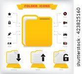 folder icons set. web and...