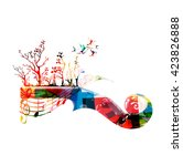 colorful music background with...   Shutterstock .eps vector #423826888