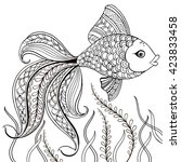 hand drawn decorative fish for...   Shutterstock .eps vector #423833458