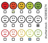 satisfaction rating with smile... | Shutterstock .eps vector #423858274