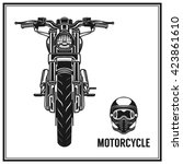 motorcycle front view and... | Shutterstock .eps vector #423861610