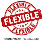 flexible. stamp | Shutterstock .eps vector #423863830