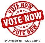 vote now. stamp | Shutterstock .eps vector #423863848