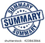 summary. stamp | Shutterstock .eps vector #423863866