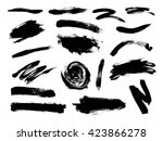 vector set of grunge artistic... | Shutterstock .eps vector #423866278