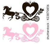 fabulous royal pink princess... | Shutterstock .eps vector #423870856