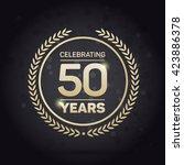50 years anniversary badge on... | Shutterstock .eps vector #423886378