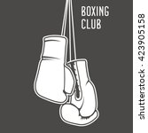 boxing club poster with boxing... | Shutterstock .eps vector #423905158