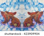 fish   decorative composition ... | Shutterstock . vector #423909904
