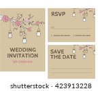 wedding invitation card... | Shutterstock .eps vector #423913228