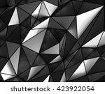 polygonal gray metal background ...   Shutterstock . vector #423922054