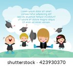 graduation kids  happy child... | Shutterstock .eps vector #423930370