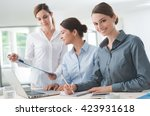 business women team working at... | Shutterstock . vector #423931618
