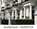 regency georgian terraced town... | Shutterstock . vector #423934714