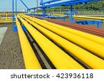 yellow gas pipes in natural gas ...