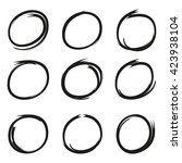 hand drawn scribble circles | Shutterstock .eps vector #423938104