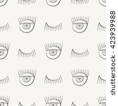 hand drawn seamless pattern... | Shutterstock .eps vector #423939988