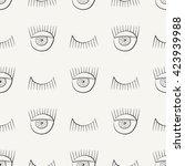 hand drawn seamless pattern... | Shutterstock .eps vector #423939988