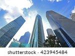 shanghai world financial center ... | Shutterstock . vector #423945484