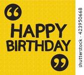 happy birthday illustration... | Shutterstock .eps vector #423950668