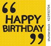 happy birthday illustration... | Shutterstock .eps vector #423950704