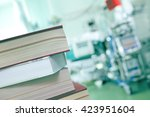 books on the hospital... | Shutterstock . vector #423951604