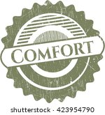 comfort rubber stamp with... | Shutterstock .eps vector #423954790