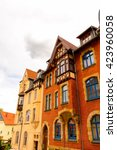 beautiful colorful architecture ... | Shutterstock . vector #423960058