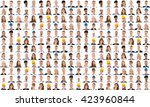 collage of people from... | Shutterstock . vector #423960844